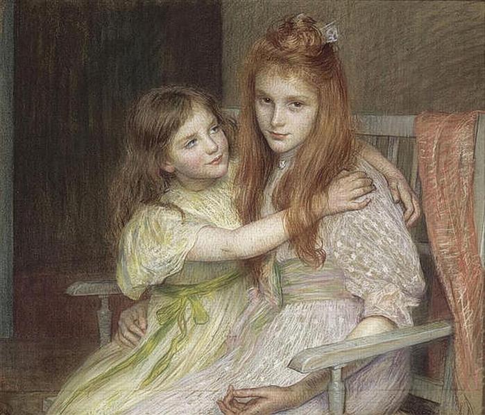 louise_breslau.deux_jeunes_filles_assises_sur_une_banquette, (700x598, 341Kb)