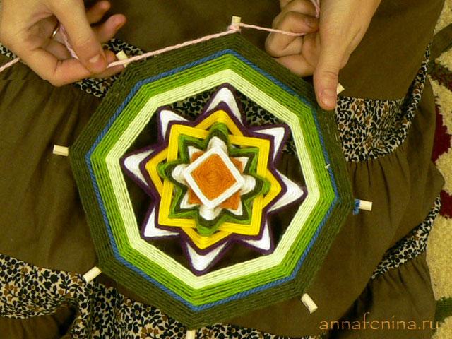 Плетём индейские мандалы! Мастер-класс 51411