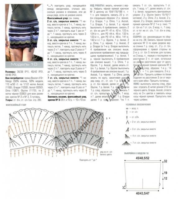 мини юбка схема (573x640, 266Kb)