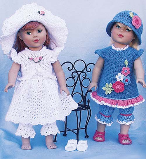 вязаные платья для кукол схемы