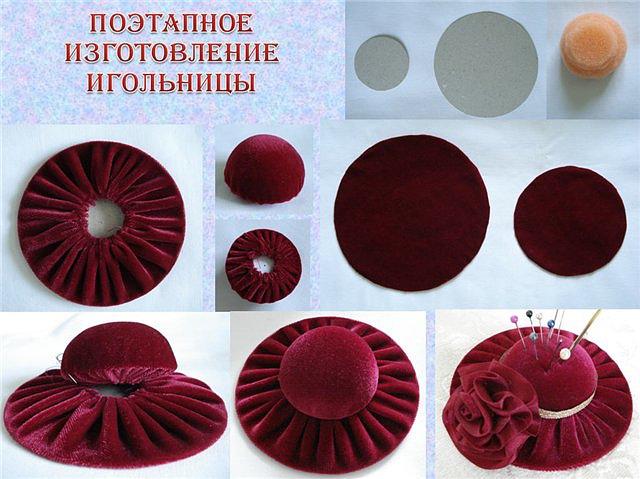 Как сделать игольницу шляпку своими руками пошагово