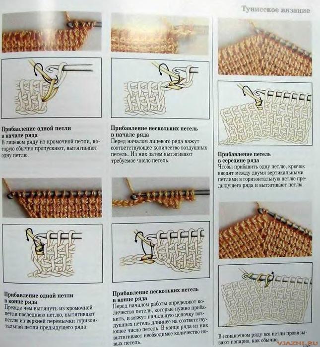 Урок вязания тунисским крючком