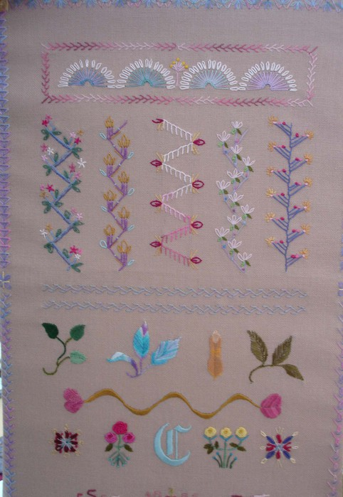 Carole's sampler of stitches (482x700, 82Kb)