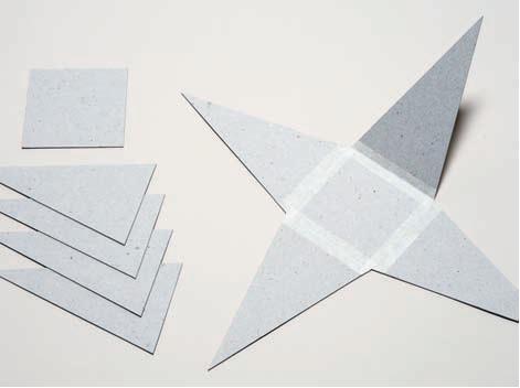 Как из бумаги сделать пирамиду без клея