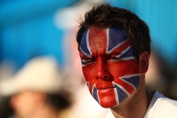 флаг на лице