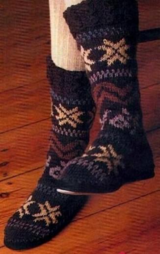 Носки теплые с красивым орнаментом  -с пришитой подошвой ,для дома/4683827_20120122_161713 (326x518, 45Kb)
