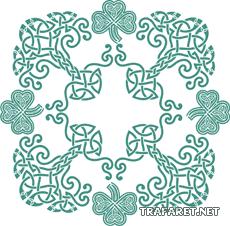 """Предпросмотр - Схема вышивки  """"Кельтский узор """" - Схемы автора  """"ashyaha """" - Вышивка крестом."""