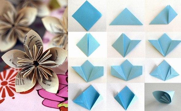 Оригами цветы своими руками видео фото