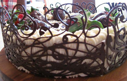 Украшения для торта из шоколада своими руками фото