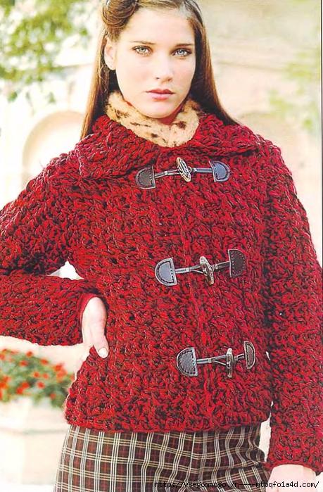 Вязаные женские куртки