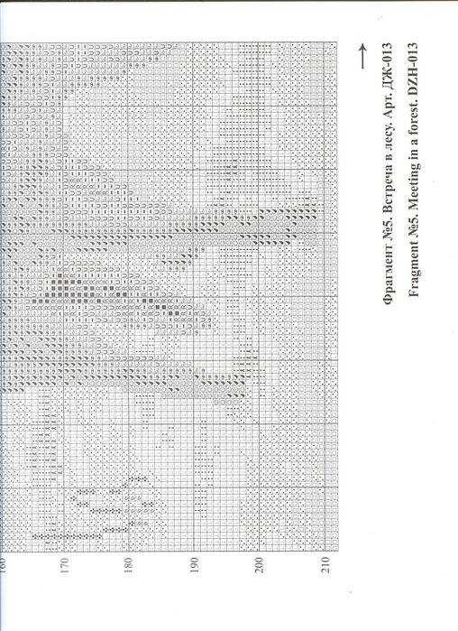 Встреча в лесу схема вышивки 2