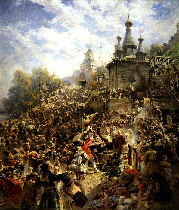 Воззвание Минина на площади Нижнего Новгорода. 1890-ые (595x700, 176Kb)