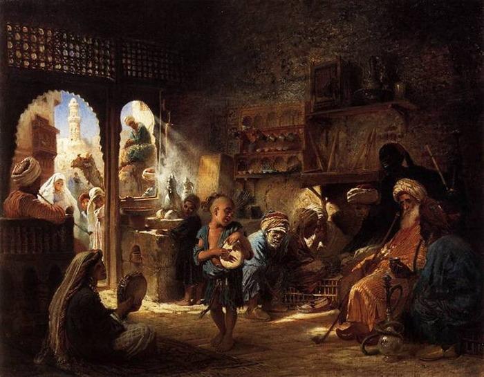 В Каирской кофейне. 1872 (700x545, 127Kb)