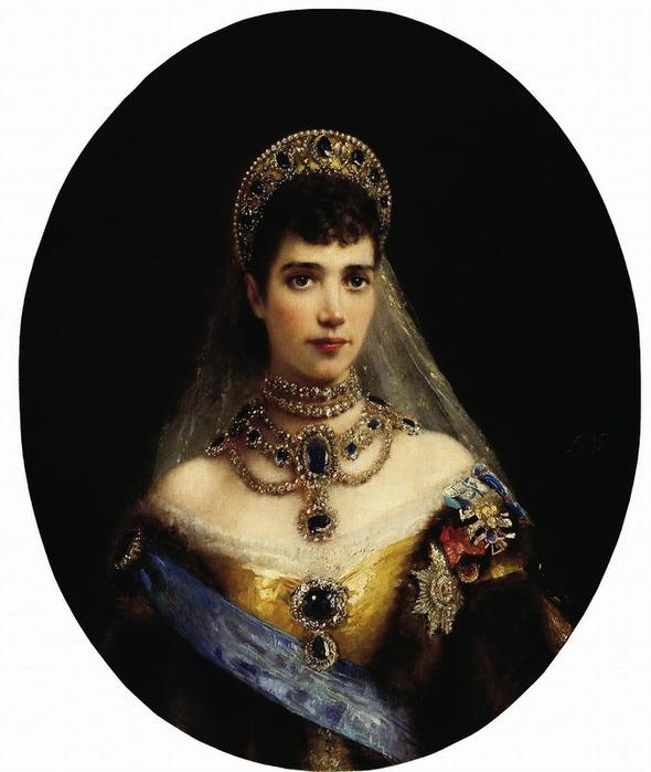 Портрет императрицы Марии Фёдоровны, жены Александра III (590x700, 85Kb)
