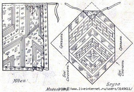Платье выкройка из платков - Выкройка