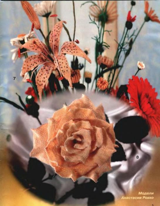 Поделка, изделие Вязание крючком: Схема вязания розы крючком Пряжа.