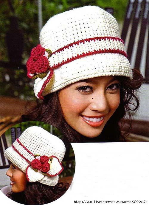 Женские шляпы вязаные