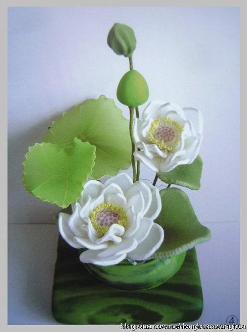 Цветы из капрона. Лотос МК