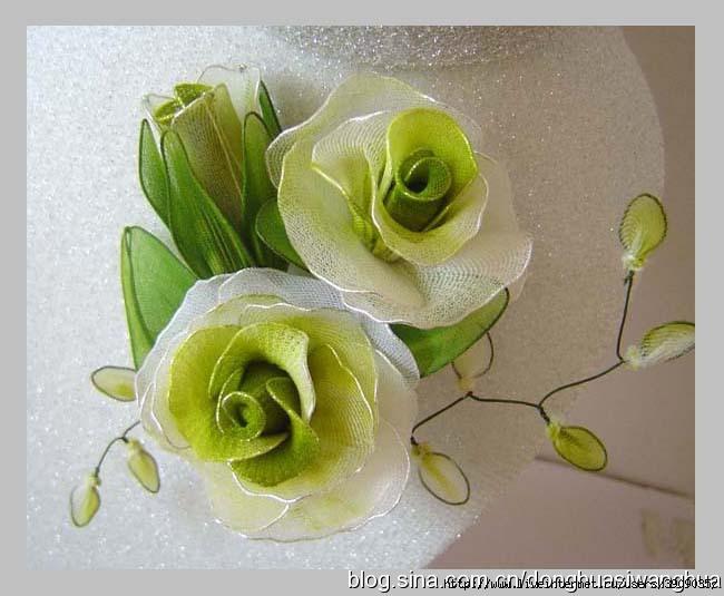 Цветы из капрона своими руками мастер класс фото