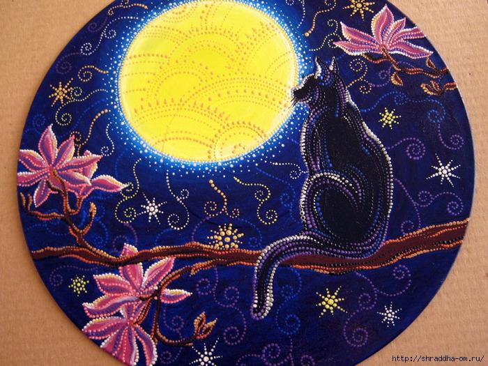 Лунный Кот, акрил, автор Shraddha, 1 (700x525, 368Kb)
