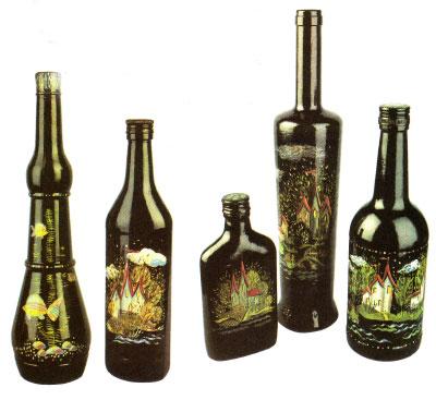 Как сделать роспись на бутылках 33930