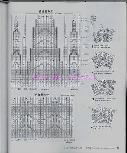 Схемы вязания кокетки спицами снизу