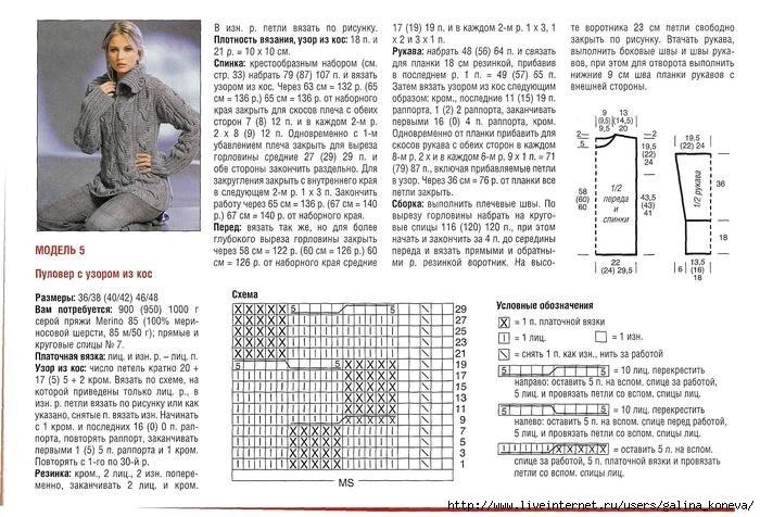 Вязание полуверов спицами схемы 31
