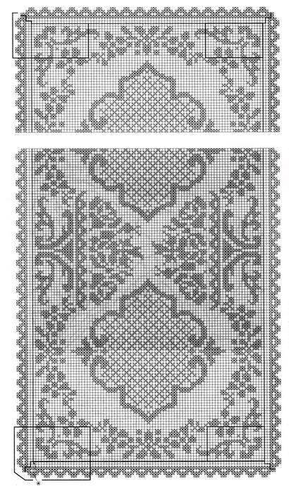 Прямоугольная скатерть филейное вязание 29