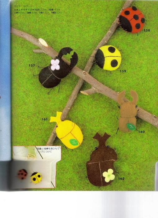 Миниатюрные игрушки из фетра. Японский журнал 027 (508x700, 300Kb)