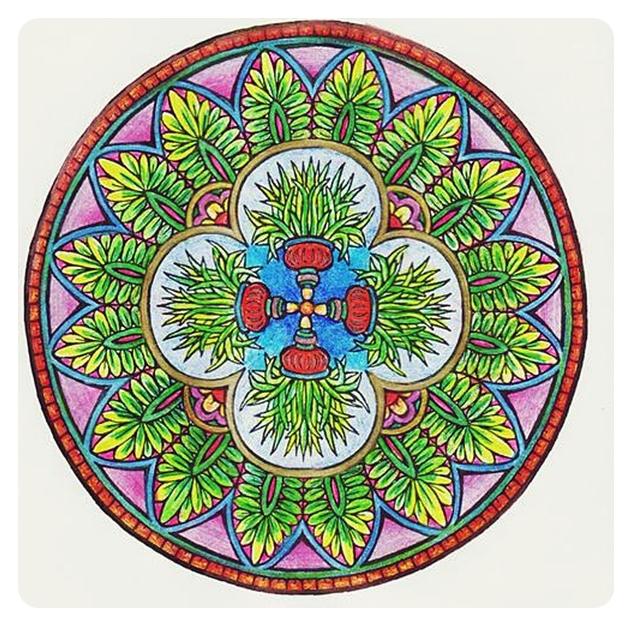 Мистические Мандалы. Книжка-раскраска. 60365