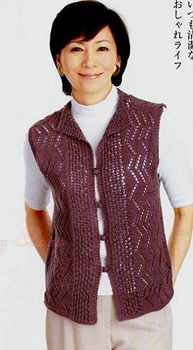Вязание. Ажурная жилетка