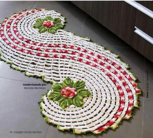 коврики и комплекты для ванной крючком из меланжевой пряжи (1) (592x555, 802Kb) .