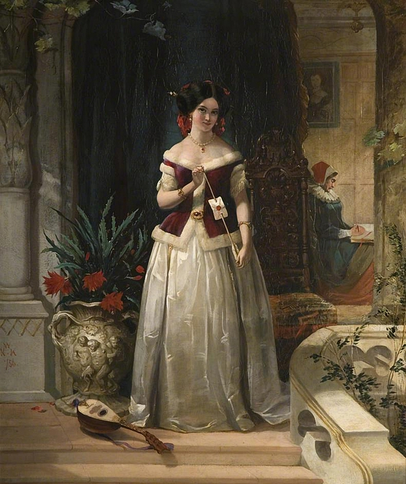 William Knight Keeling - Love's Messenger 1856 (586x700, 318Kb)