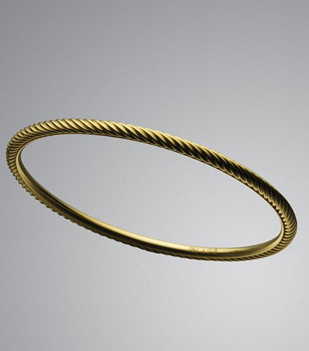 David Yurman Yellow Gold Cable Stack Bangle (309x351, 65Kb)