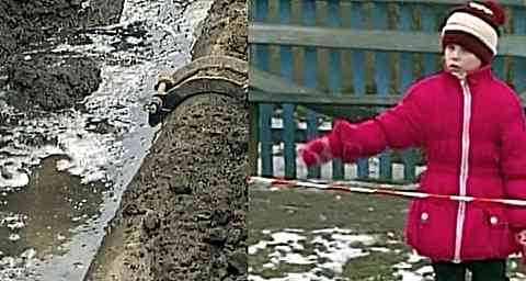 Семилетняя девочка спасла друзей из траншеи