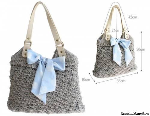 Вязание крючком сумки схемы и модели бесплатно.