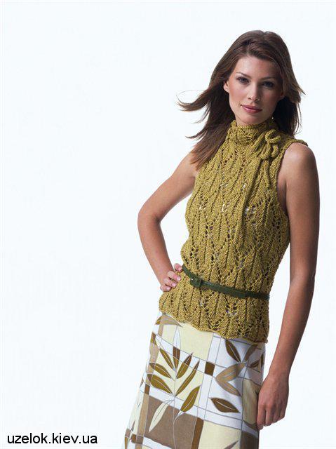 Вязание спицами женской