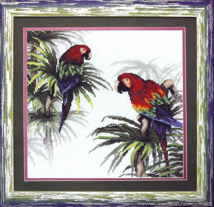 Название: Схема для вышивки крестиком Попугаи Издательство: Искусница Формат: jpg Размер: 2,35Мб Для сайта.