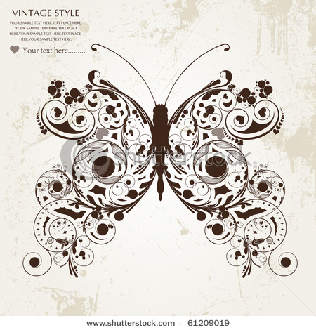 stock-vector-abstract-floral-butterfly-61209019 (450x470, 99Kb)