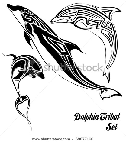 stock-vector-dolphin-tribal-set-68877160 (417x470, 51Kb)