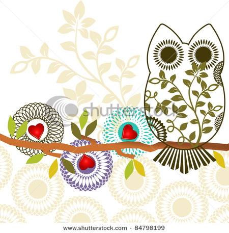 stock-vector-sweet-owl-sitting-on-branch-three-different-unique-flowers-layered-84798199 (450x457, 107Kb)