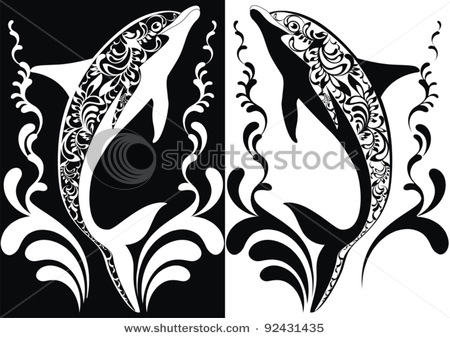stock-vector-two-ornamental-vector-dolphins-with-decorative-flourish-elements-on-white-and-black-background-92431435 (450x338, 60Kb)
