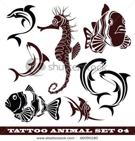 stock-vector-vector-set-templates-fish-for-tattoo-and-design-on-different-topics-46090180 (450x470, 80Kb)