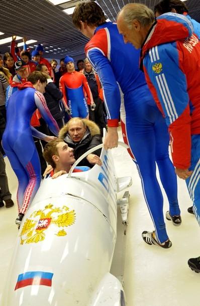 На тренировке сборной России в Парамоново, бобслейный и санный центр за пределами Дмитрова, 16 февраля 2012 года.