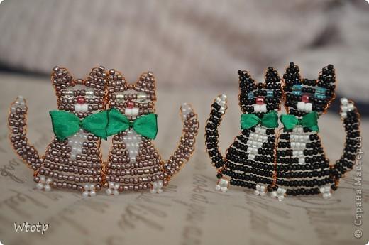 Котики из бисера от Wtotp СХЕМА.