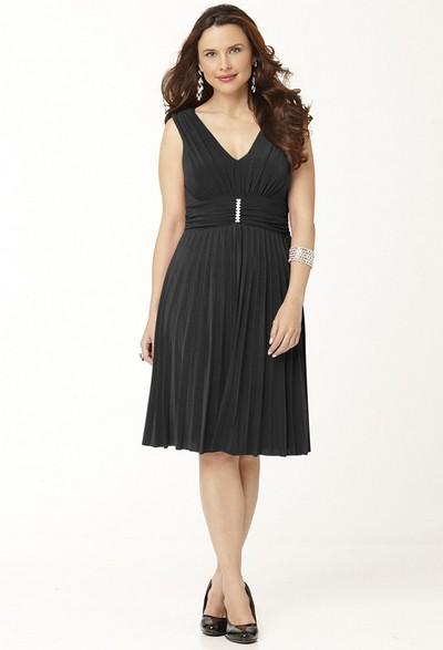 А в стильном трикотажном платье, которое.