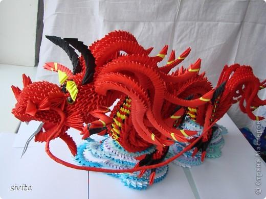 Модульные оригами красный дракон схема