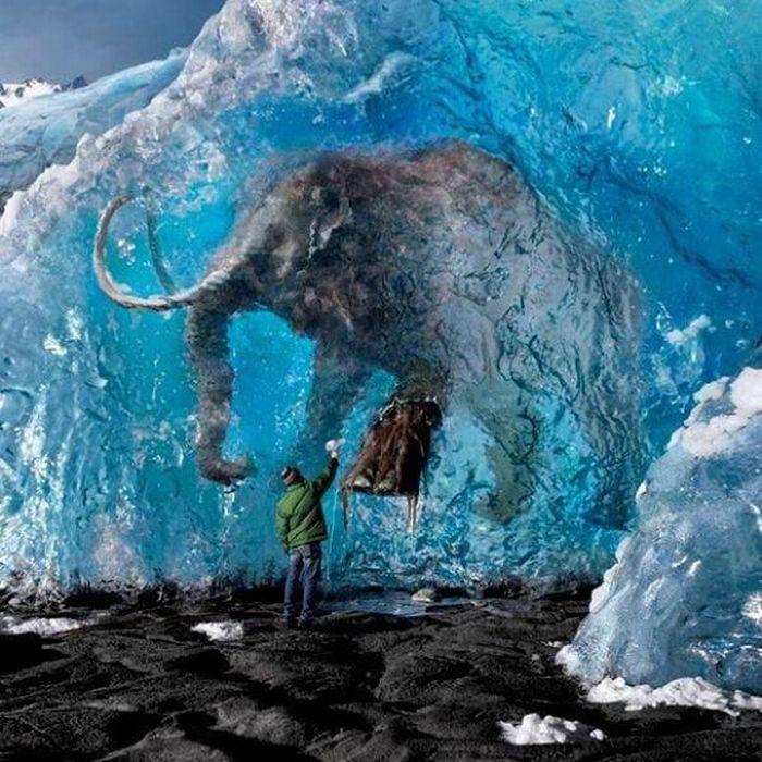 Как сделать на замерзшем мамонте