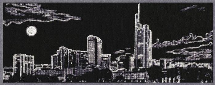 Ночной город схема вышивки крестом бесплатно