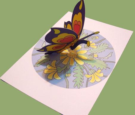 Открытки своими руками объемные бабочки
